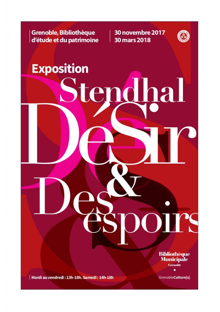 Affiche de Stendhal Désir et Désespoirs